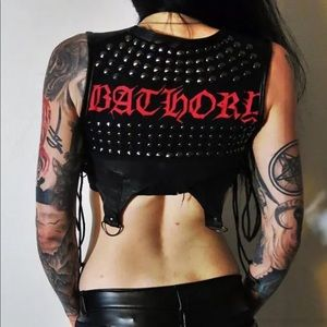 Bathory Leather studded Holster Vest